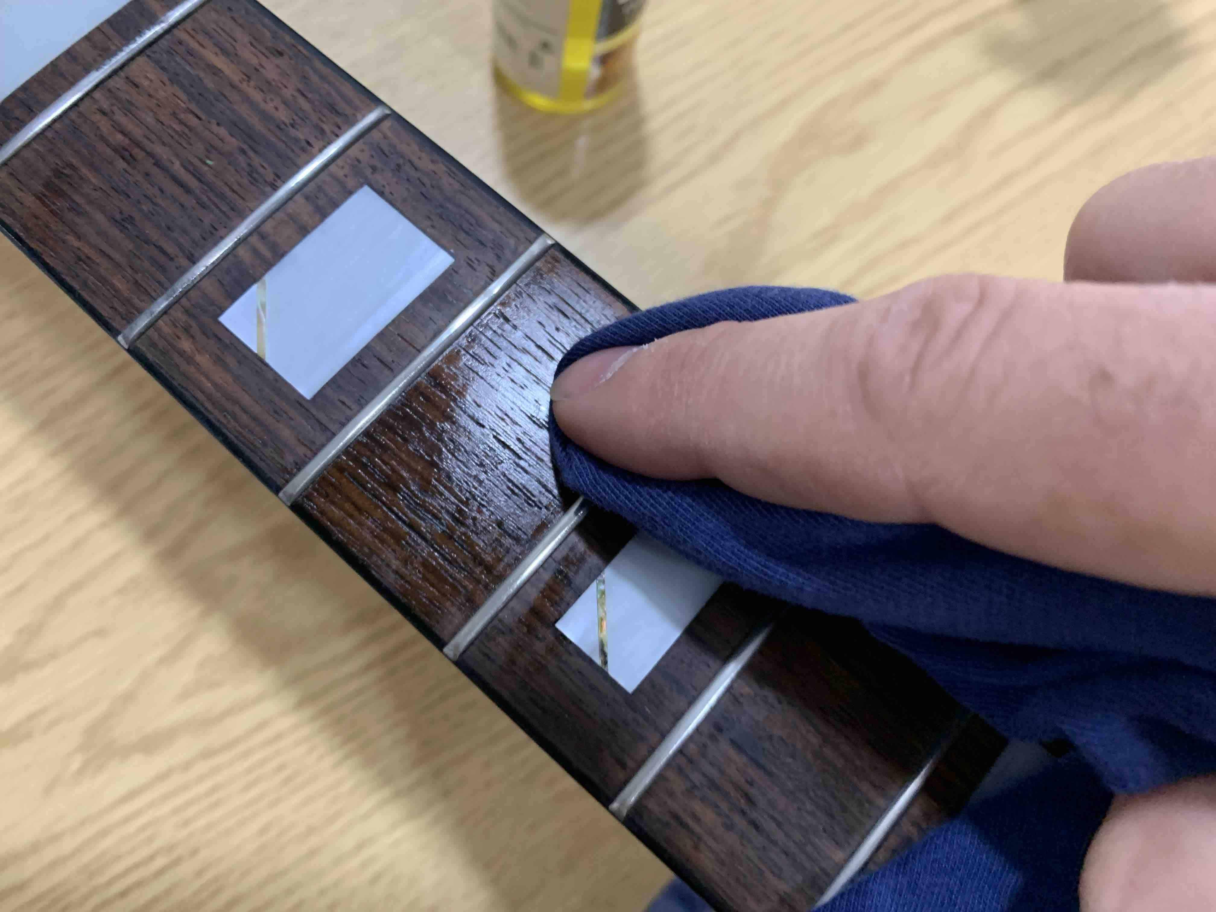 clean fretboard