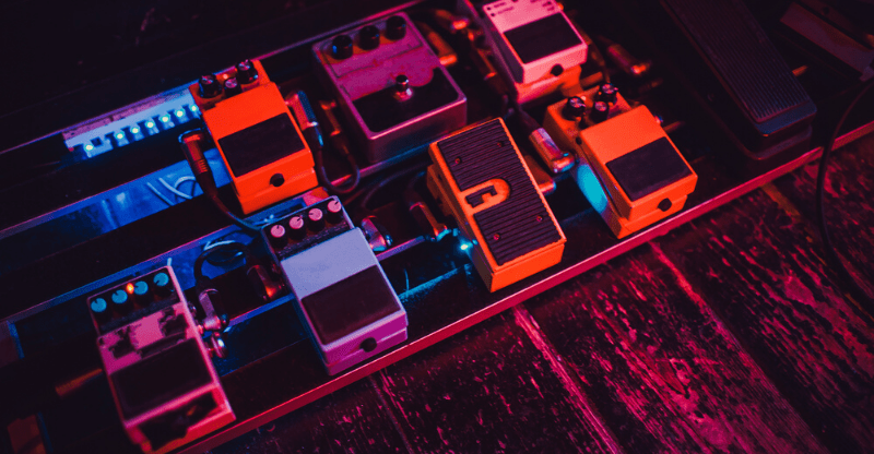 collection of pedals