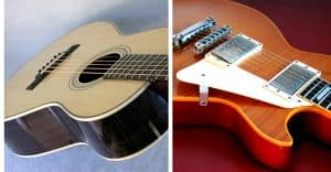acoustic and electric guitars for blues