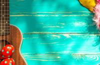 ukulele and maracas