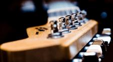 polished guitar headstock