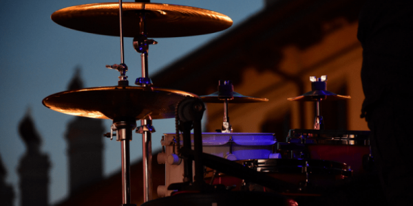 drum kit in plaza