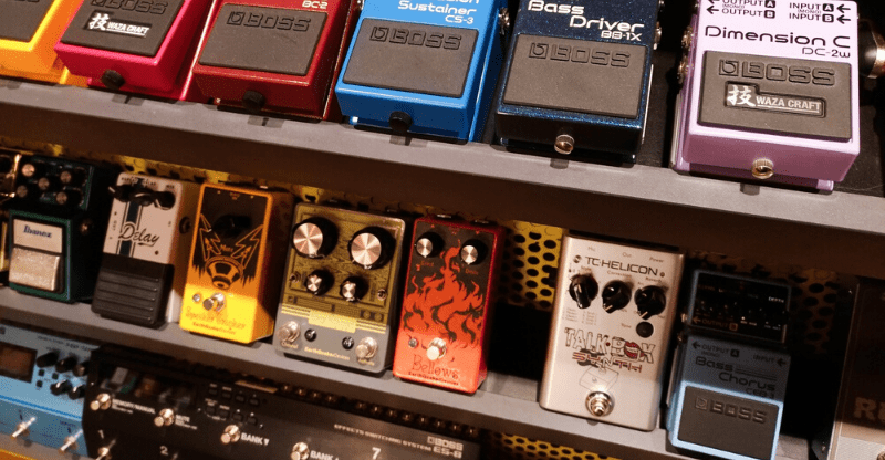 selection of pedals
