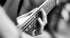 picture of guitar fretboard