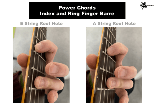 Power Chords - Index And Ring Finger Barre