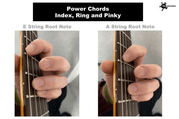 Power Chords - Index, Ring And Pinky Fingering