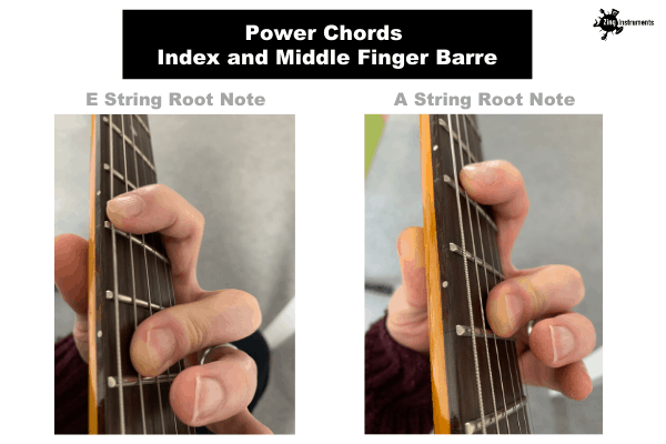 Power Chords - Index and Middle Finger Barre
