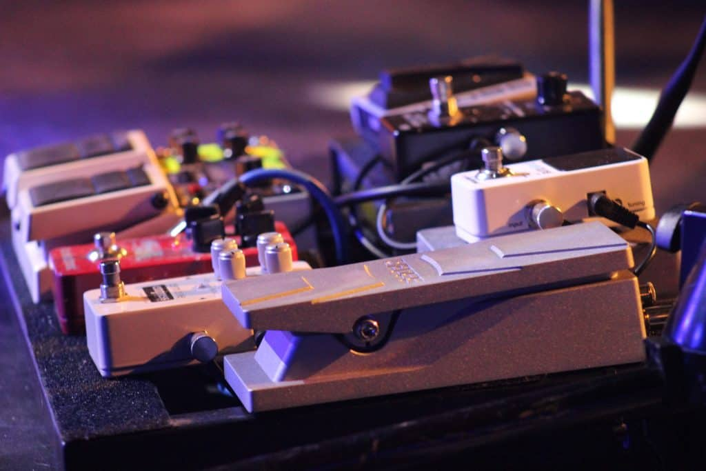 picture of pedal board