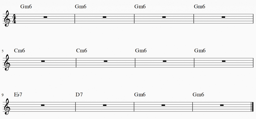 Gm6 chord progression