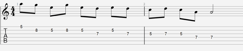 scale sequencing tab 2