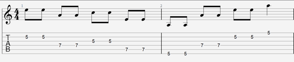 string skipping exercise 1 tab