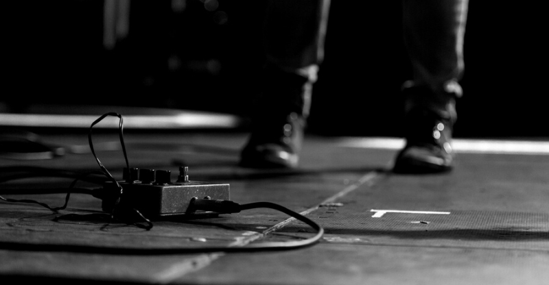 black guitar pedal