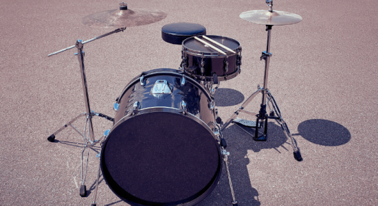 Drum kit in the street