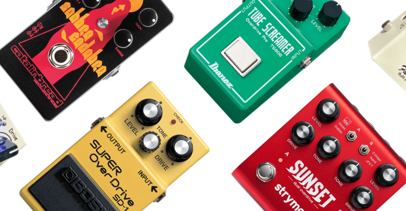 selection of classic overdrive pedals (1)