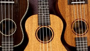 three ukuleles