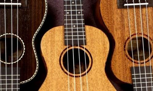 three ukuleles