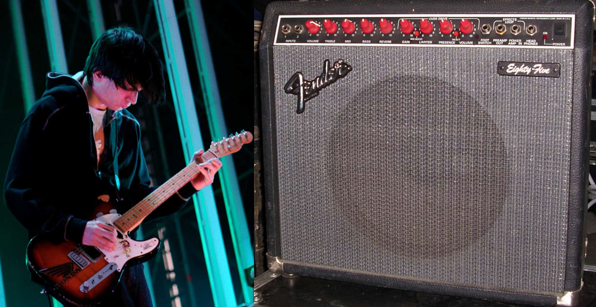 Jonny Greenwood playing a Fender Eighty-Five