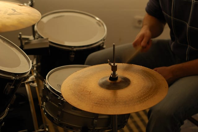 person playing hi-hat