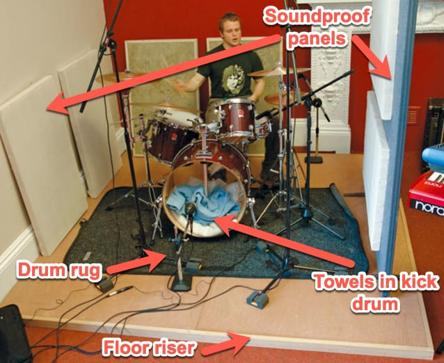 drum riser and other sound isolation ideas