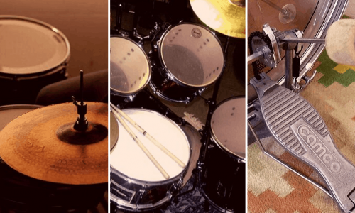 setting up a drum kit