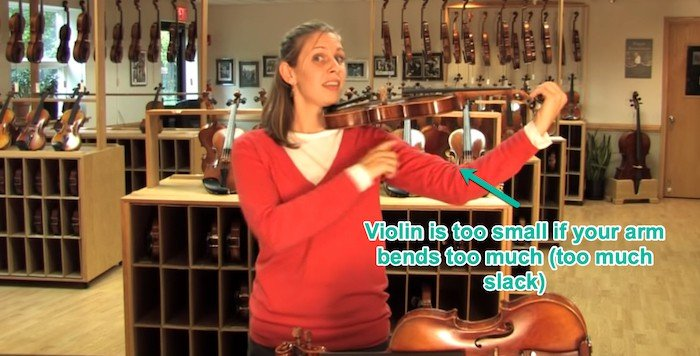 if a violin is too small