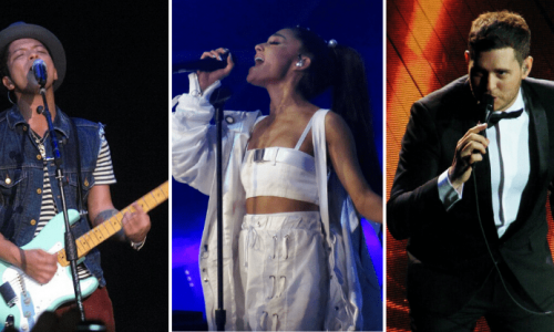Bruno Mars - Ariana Grande - Michael Buble