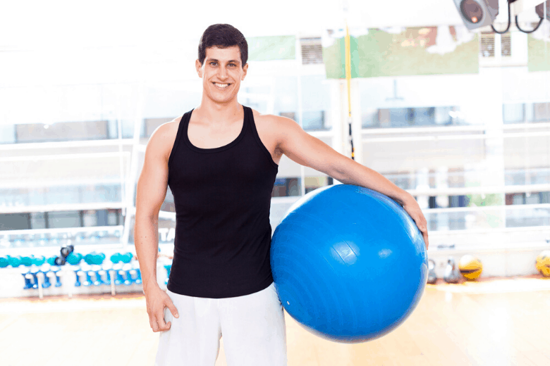 Guy with Exercise Ball