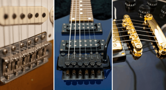3 guitar bridge types