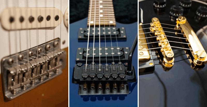 3 guitar bridge types