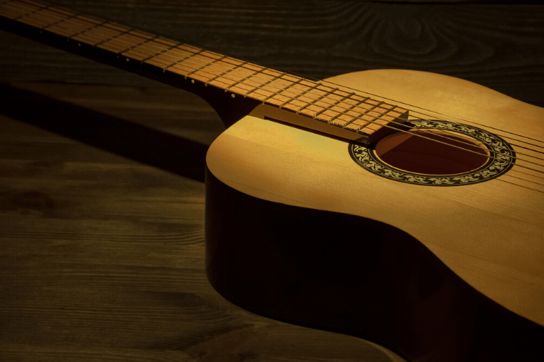 Natural looking acoustic guitar