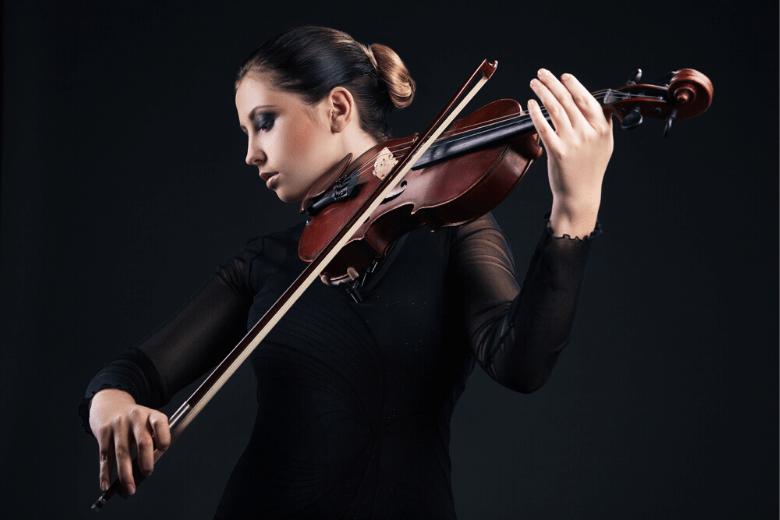 Woman playing a viola