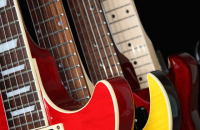 selection of electric guitars