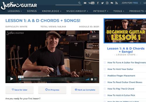 Justin Guitar Lesson