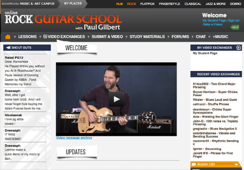 Rock Guitar School with Paul Gilbert