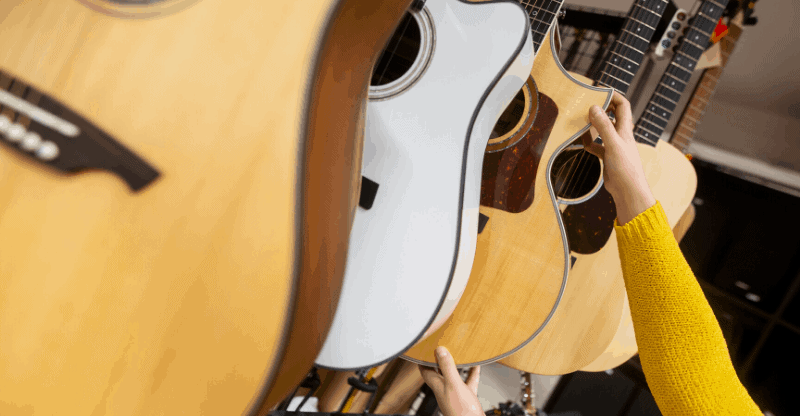 buying a used acoustic guitar