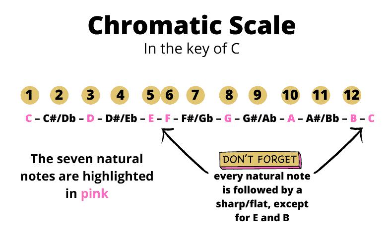 Chromatic scale in C
