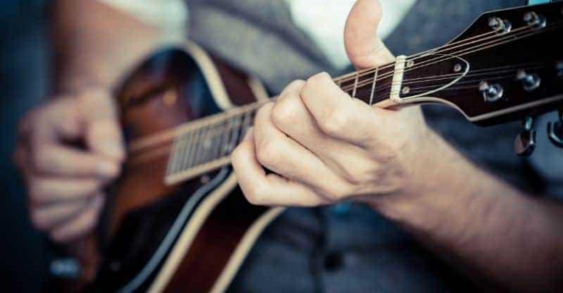 Close up of a mandolin