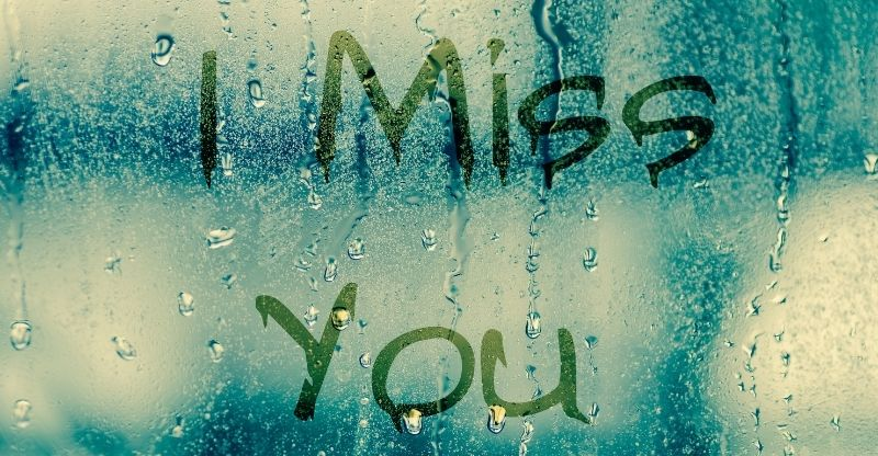 I miss you written on glass