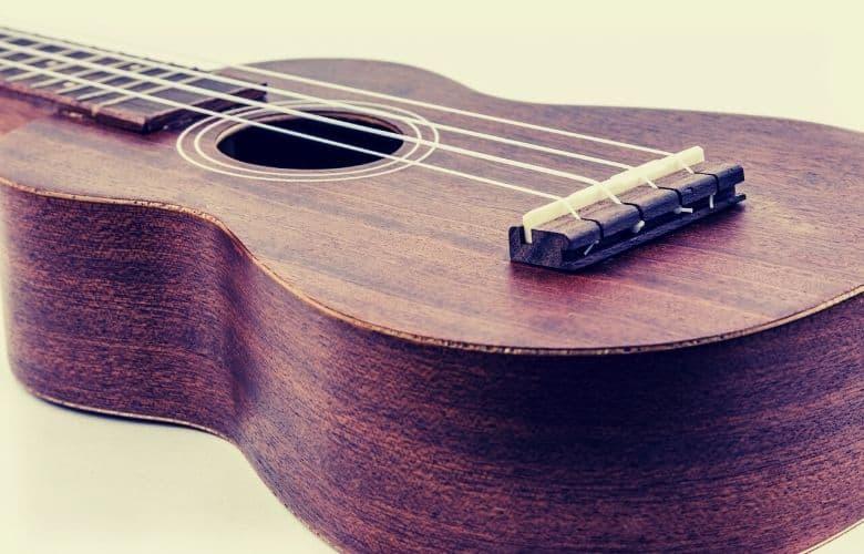 Slotted Bridge on a ukulele