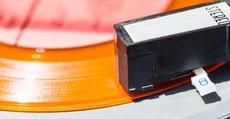 close up of a vinyl record