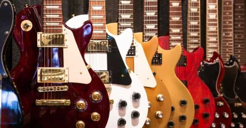collection of gibson guitars