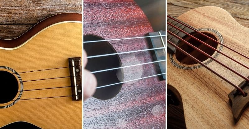 different types of ukulele wood