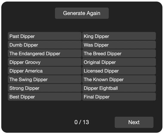 dipper example