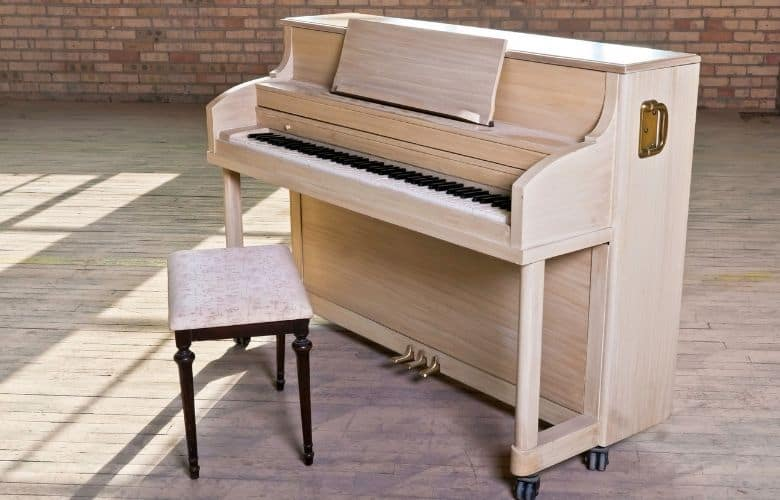 example of an upright piano