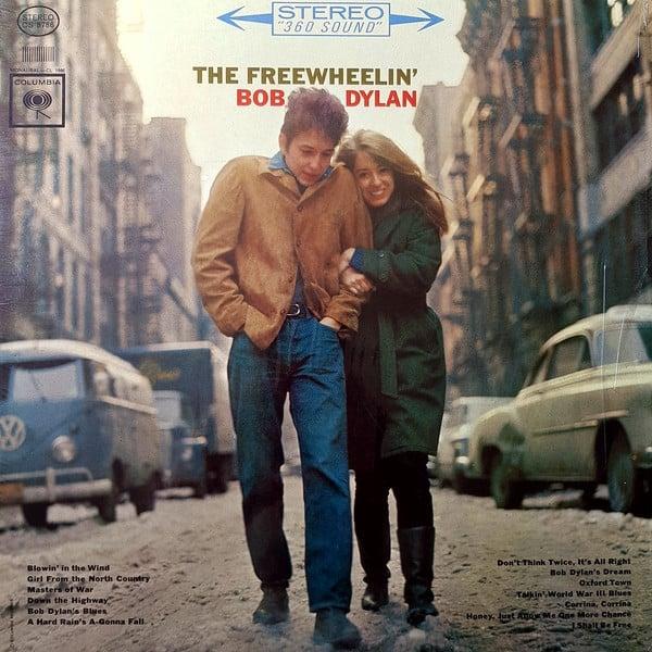 freewheelin bob dylan album cover