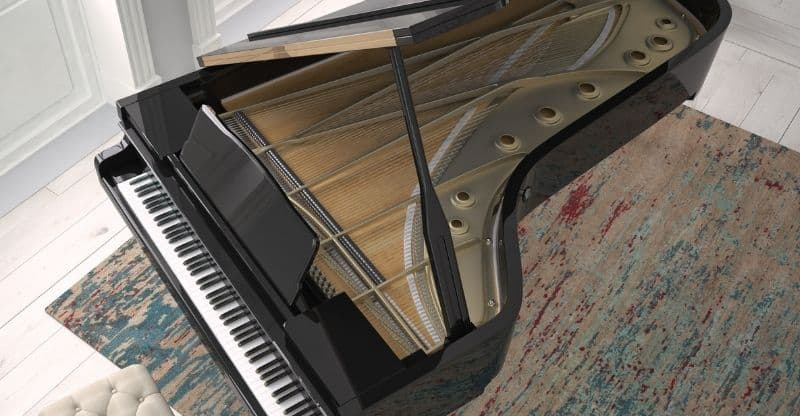 grand piano from above