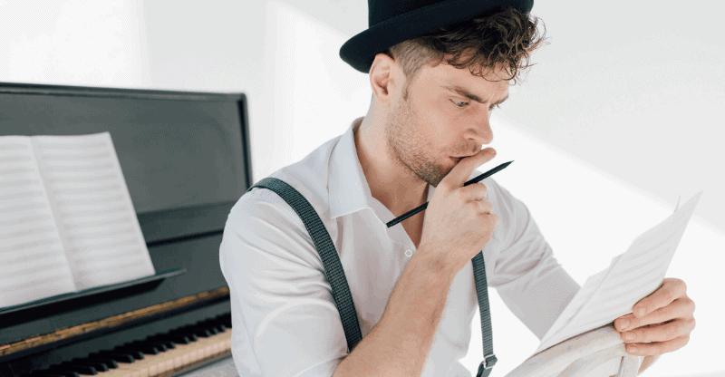 guy reading music