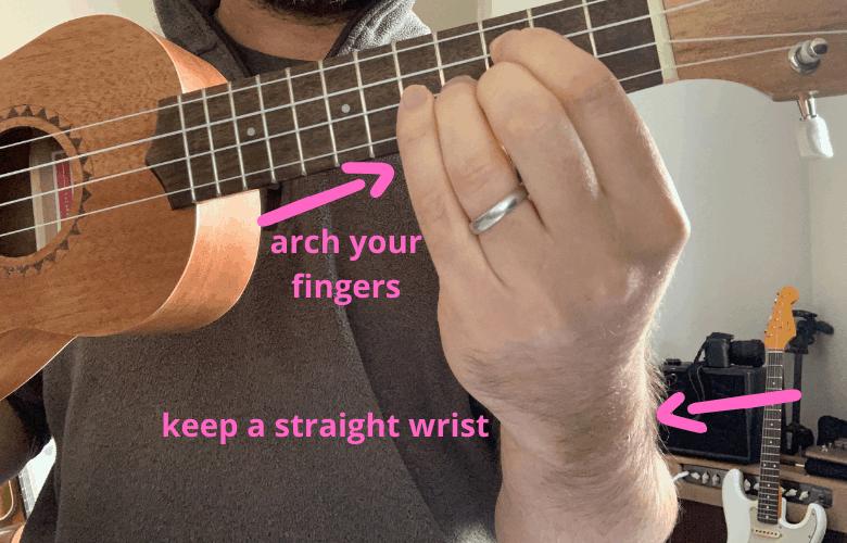 keep a straight wrist