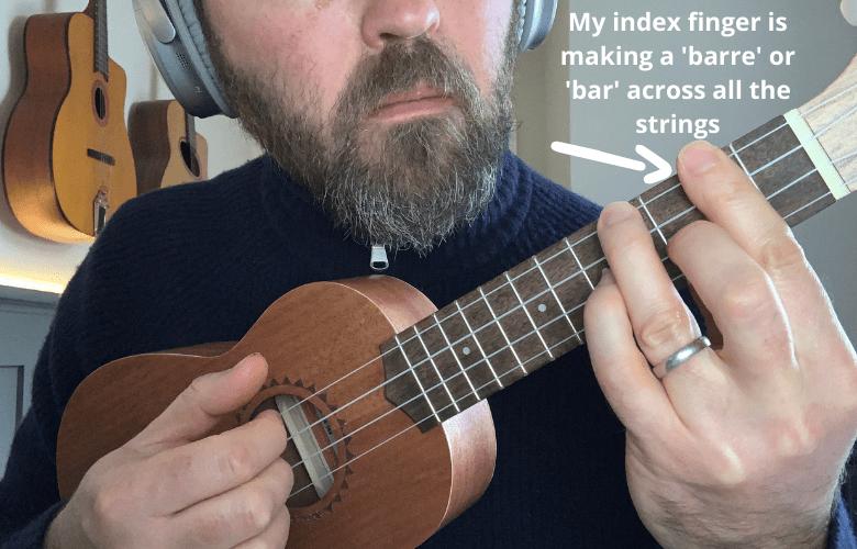 making a barre chord
