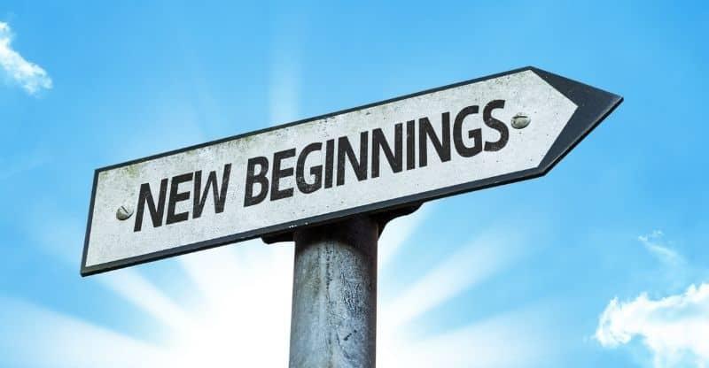 new beginnings sign